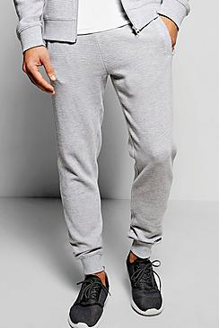 Skinny Fit Ottoman Ribbed Joggers