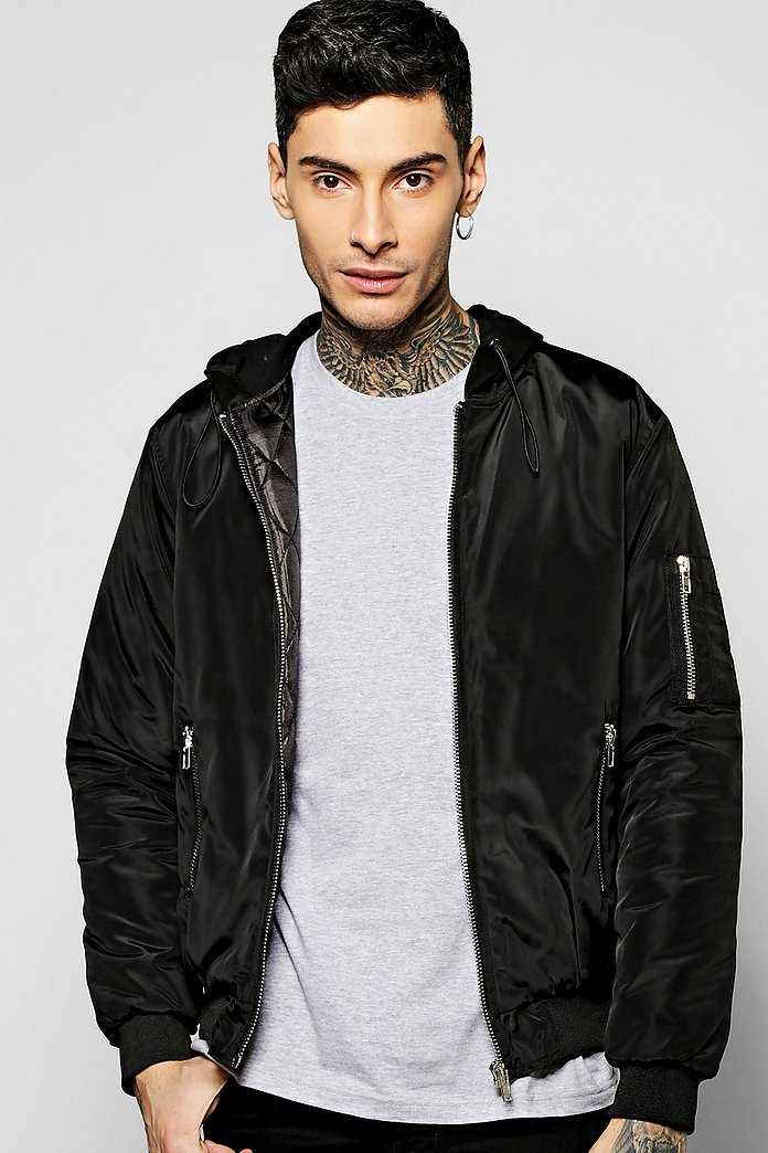MA1 Bomber With Jersey Hood