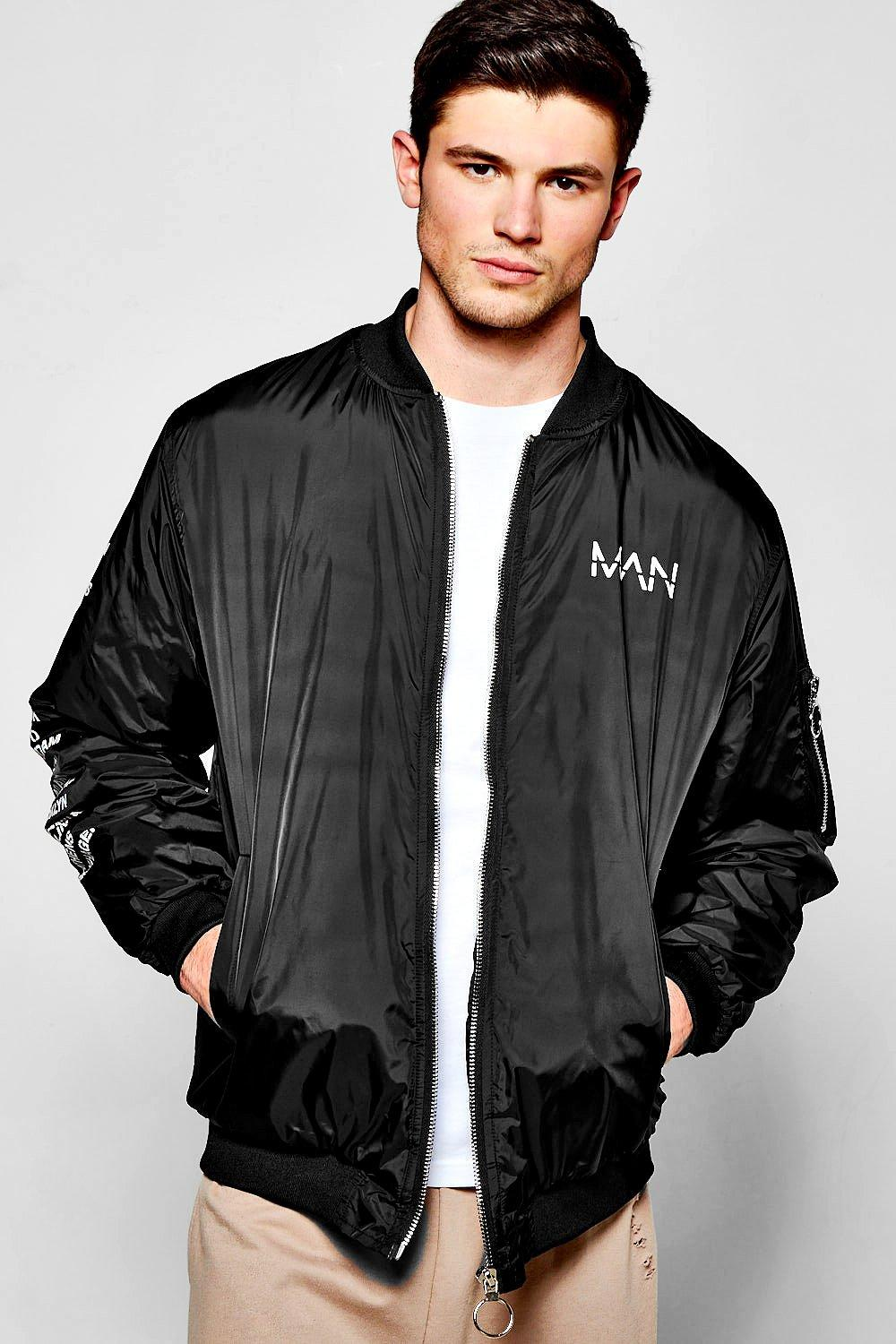 Oversized MA1 Bomber With City Print