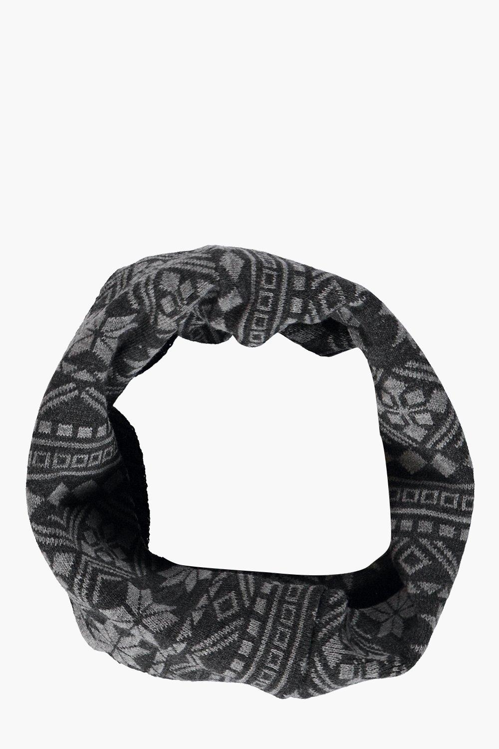 Snood - black - Fairisle Snood - black