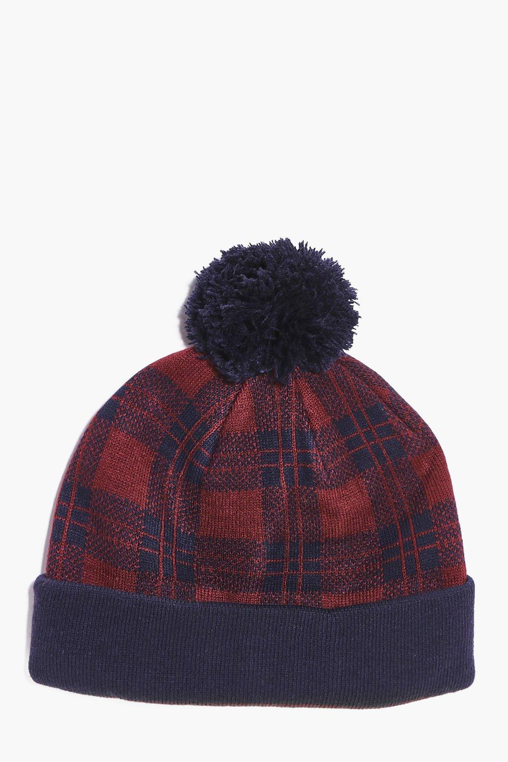 Check Bobble Hat