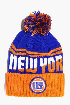NY Badge Bobble Hat