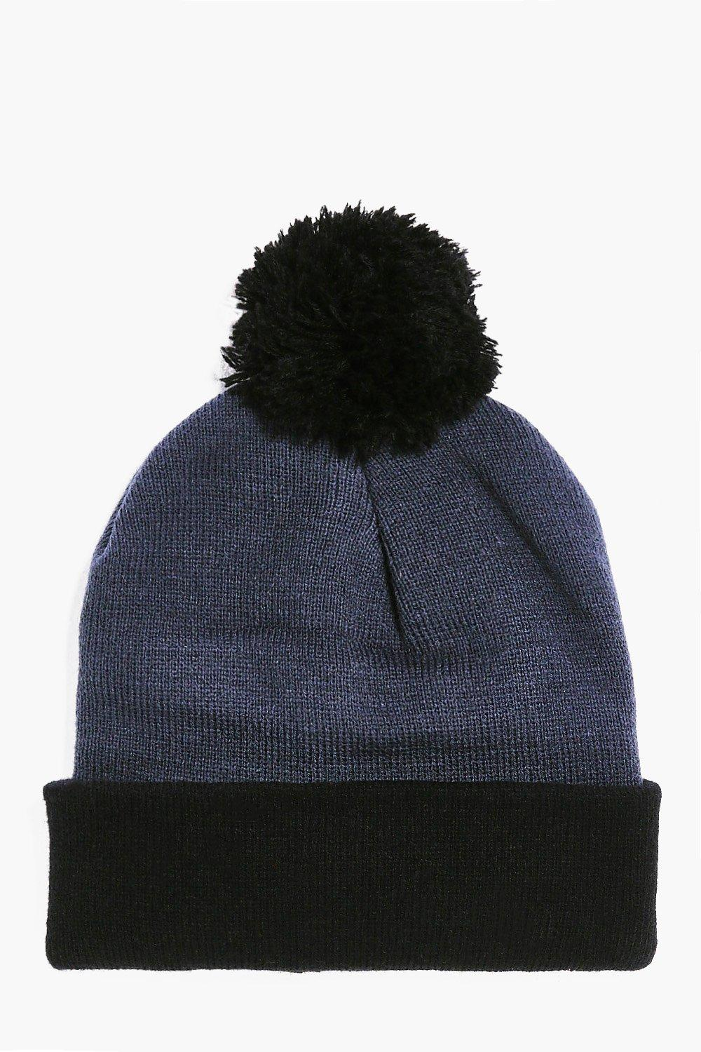 Contrast Bobble Hat