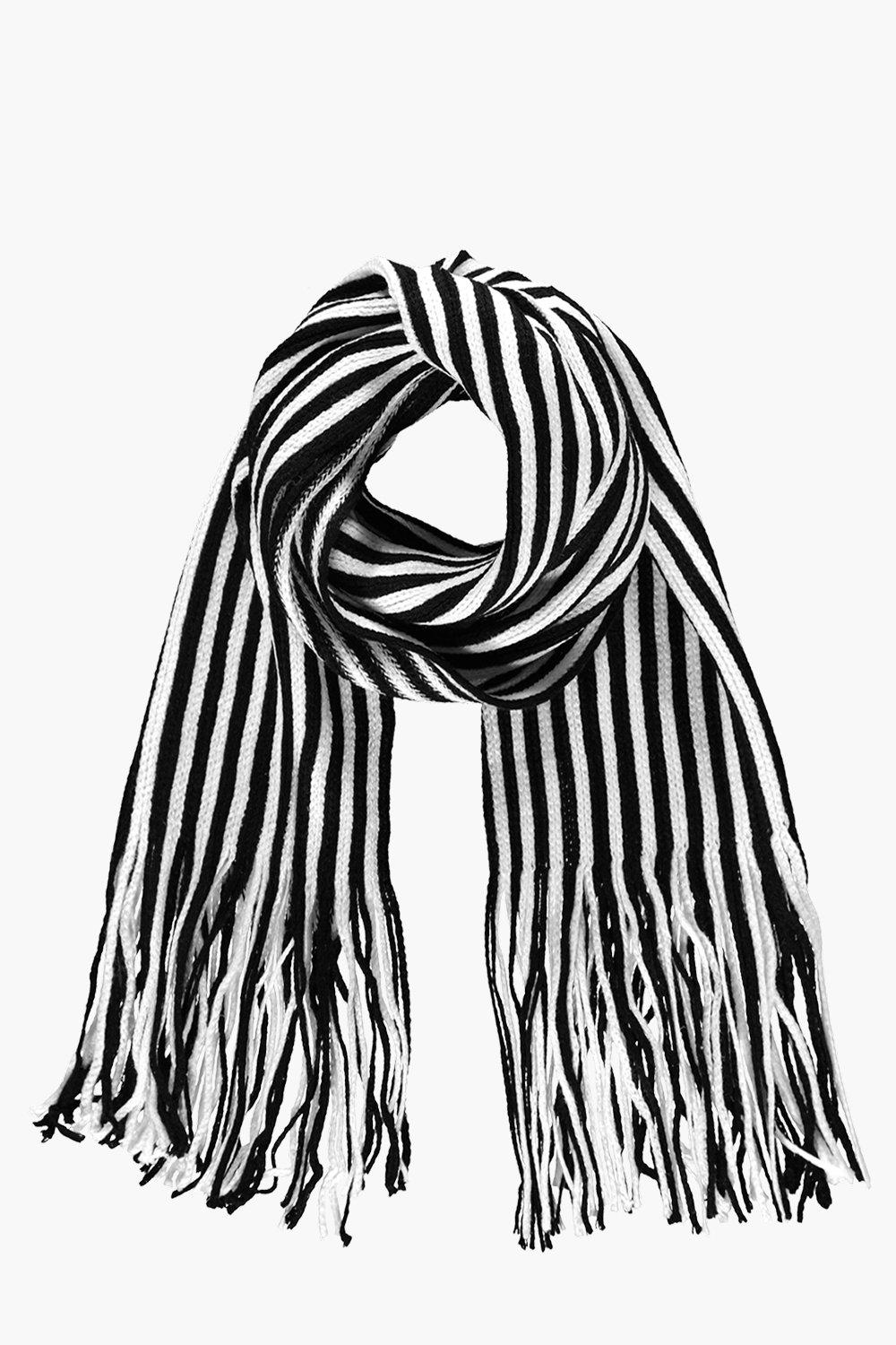 Vintage Scarves- New in the 1920s to 1960s Styles Stripe Scarf black $4.00 AT vintagedancer.com
