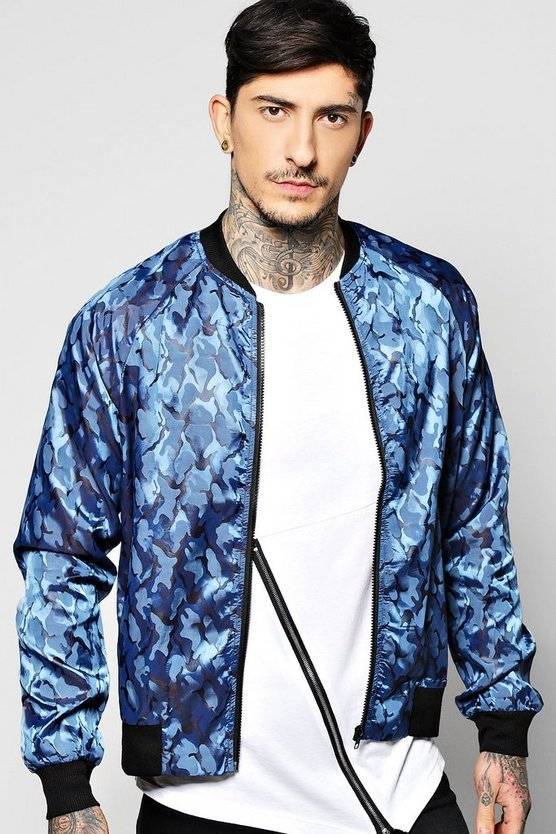 Highshine Camo Bomber Jacket