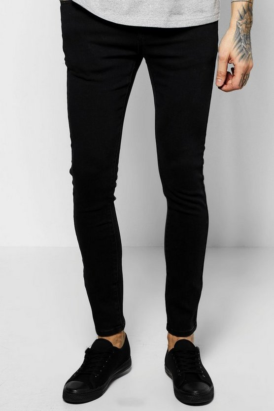 Black Stretch Skinny Fit Denim Jeans