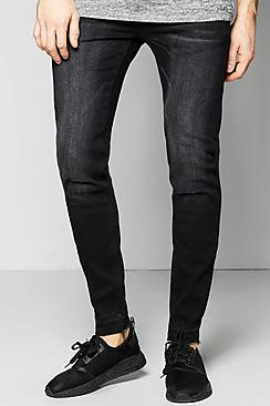 Super Skinny Stretch Fit Jean With Raw Cuffs