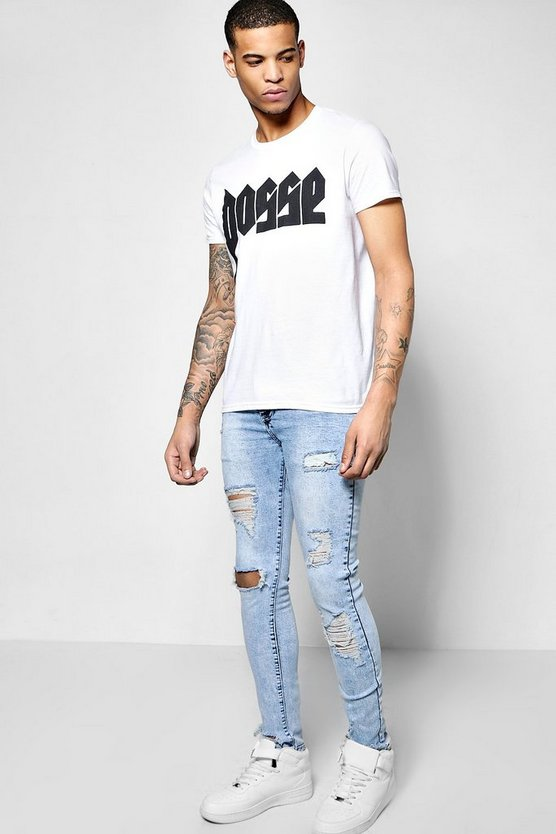 Skinny Fit Stretch Destroyed Jeans