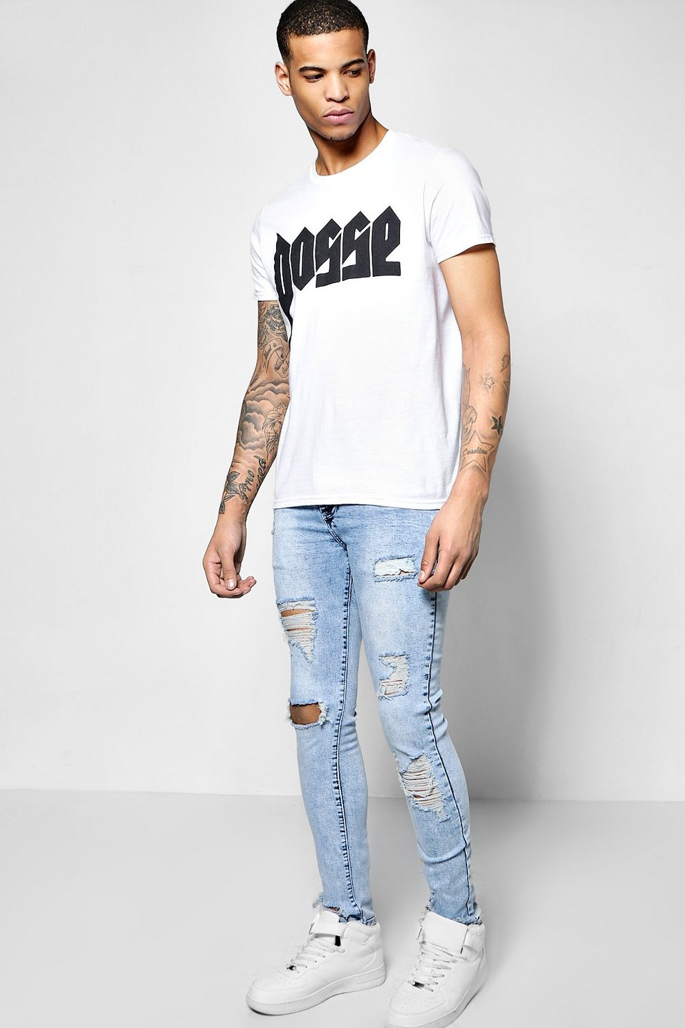 Really Cheap Shoes Online Clearance Websites Boohoo Skinny Fit Stretch Destroyed Jeans With Credit Card For Sale iv1lM5ei