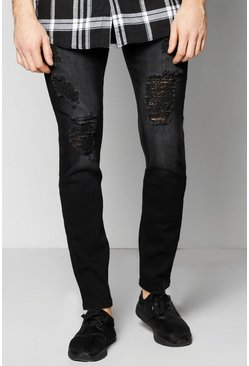 Skinny Fit Rip & Repaired Jeans