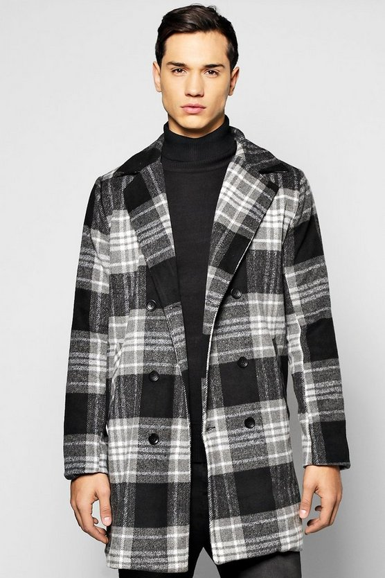 Smart Check Woollike Over Coat