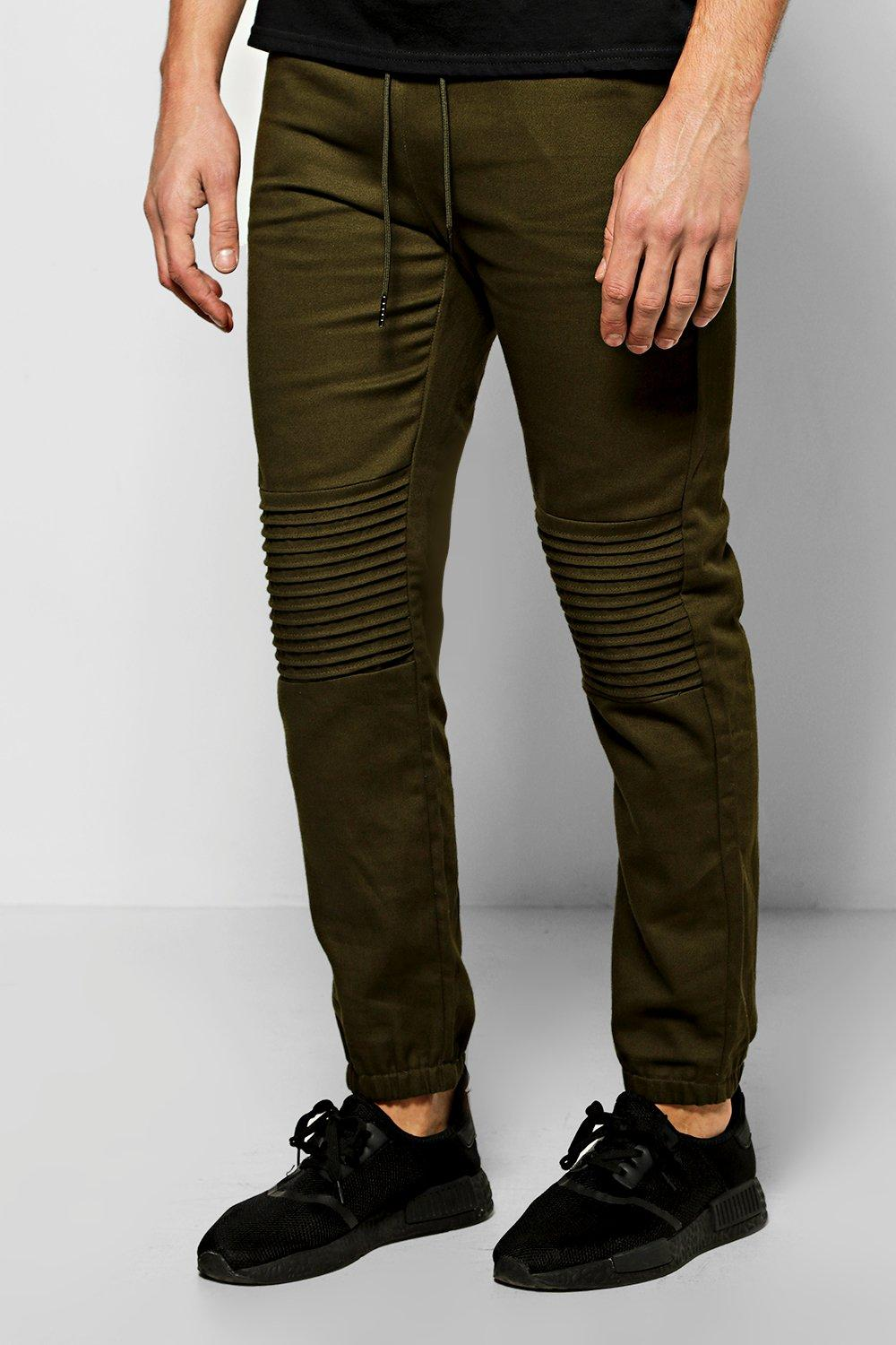 Skinny Fit Quilted Biker Joggers