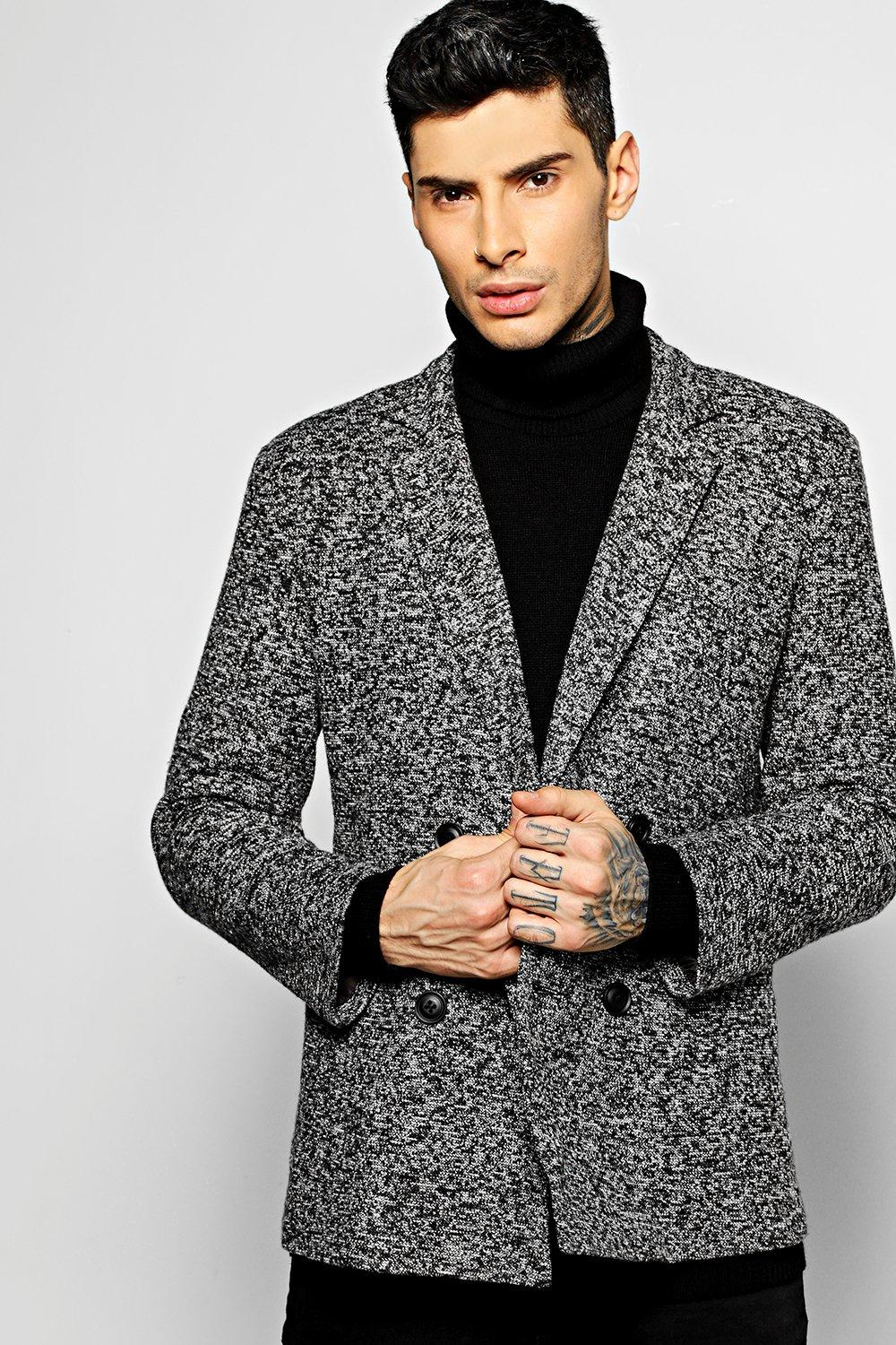 Double Breasted Smart Blazer black