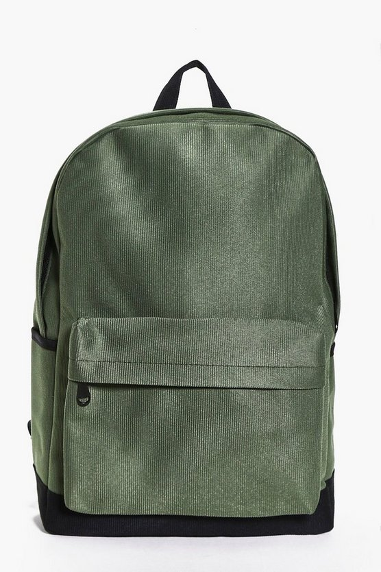 Suedette Ribbed Back Pack
