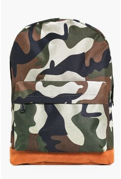 All Over Rucksack With Suedette Panels