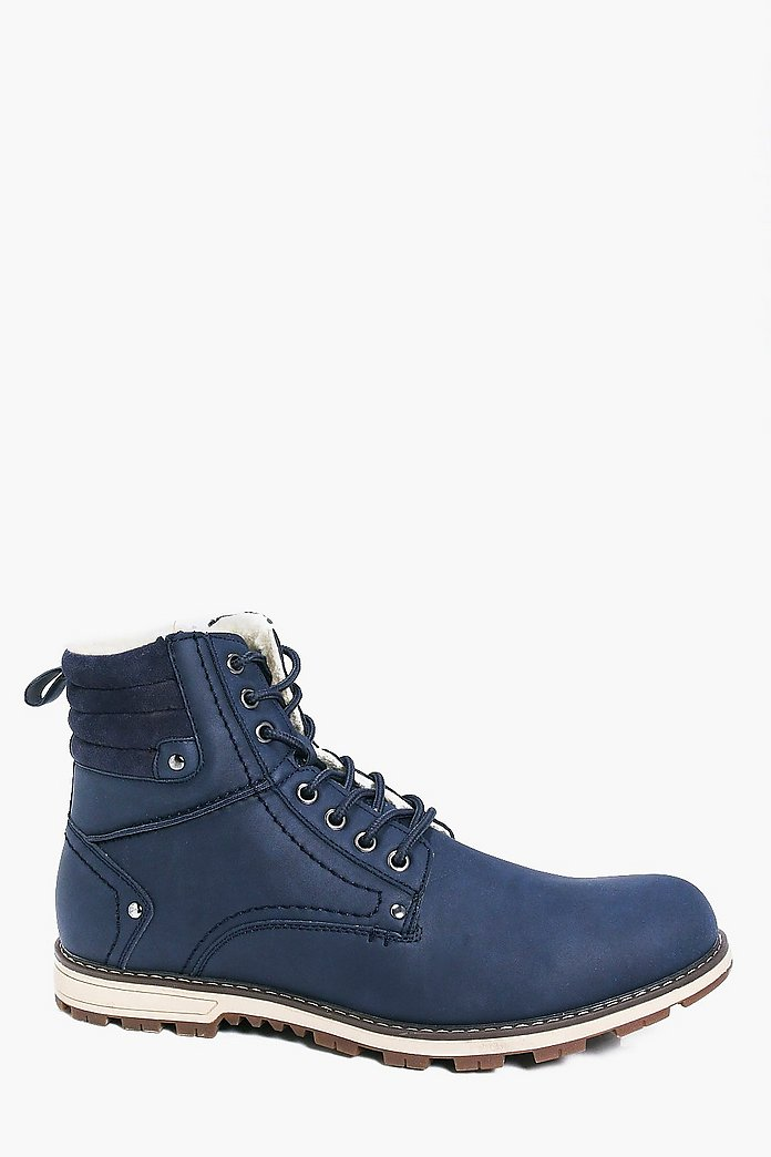 Borg Lined Worker Boots