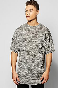 Oversized Space Dye Knitted T Shirt