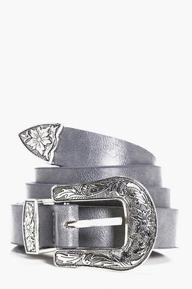 Smart PU Belt With Silver Buckle