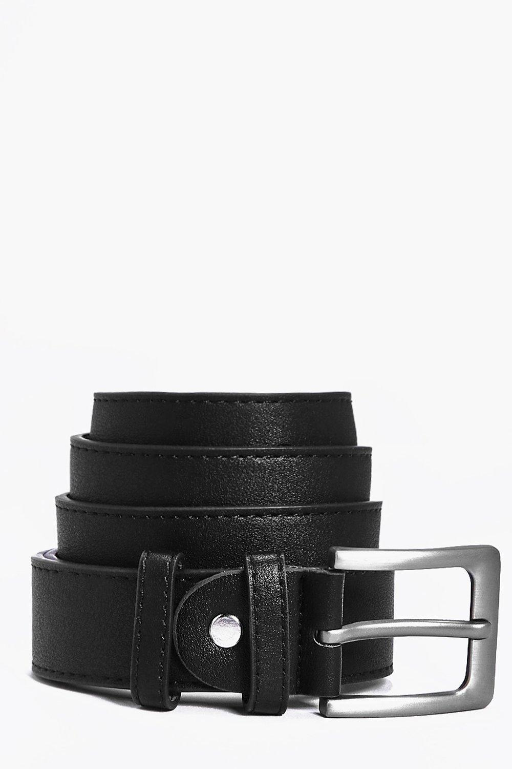 Buckle Smart PU Belt - black - Metal Buckle Smart