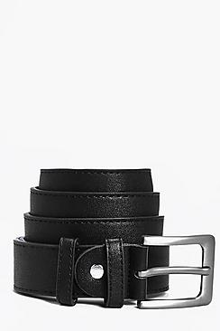 ceinture en cuir synthétique smart à boucle métallique
