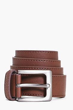 Metal Buckle Smart PU Belt