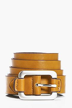 PU Belt Wit Silver Buckle
