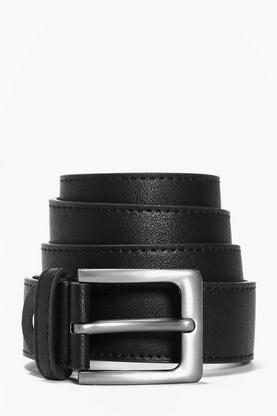 PU Belt With Rounded Buckle