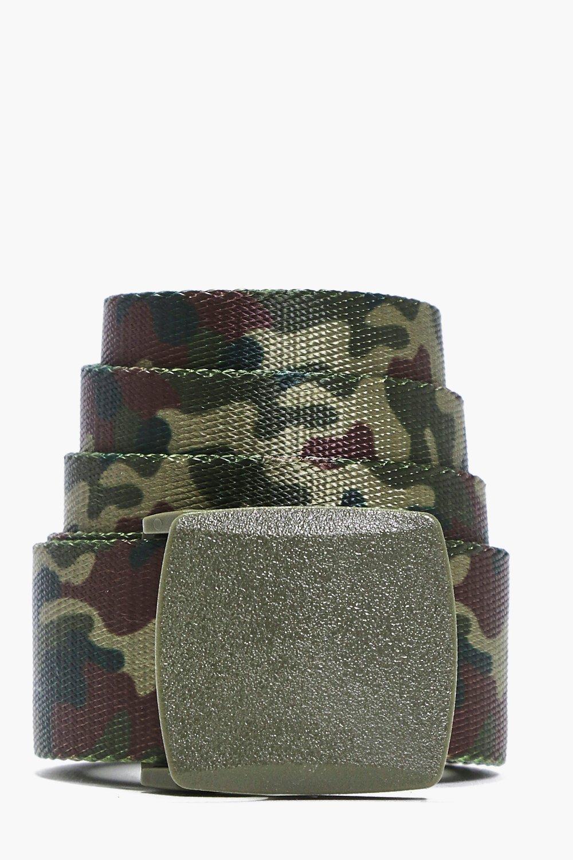 Metal Clasp Grosgrain Belt  khaki