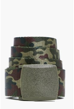 Camo Metal Clasp Grosgrain Belt