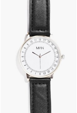 Minimalist Circular Watch With PU Strap