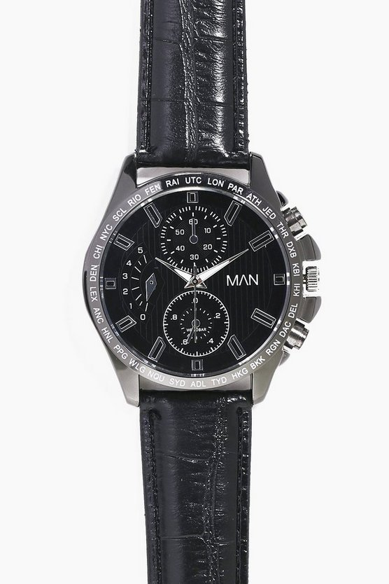 Multi Dial Metal Watch