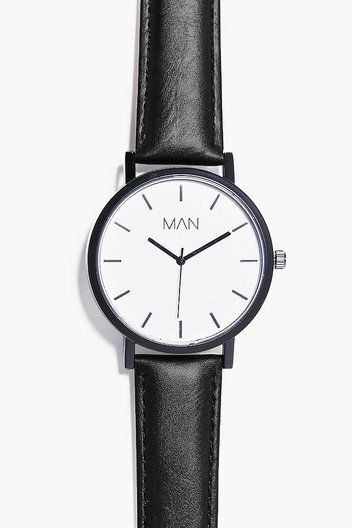 Simplistic Oversized Watch With PU Strap