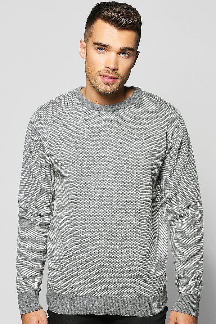 Birdseye Knit Crew Neck Jumper