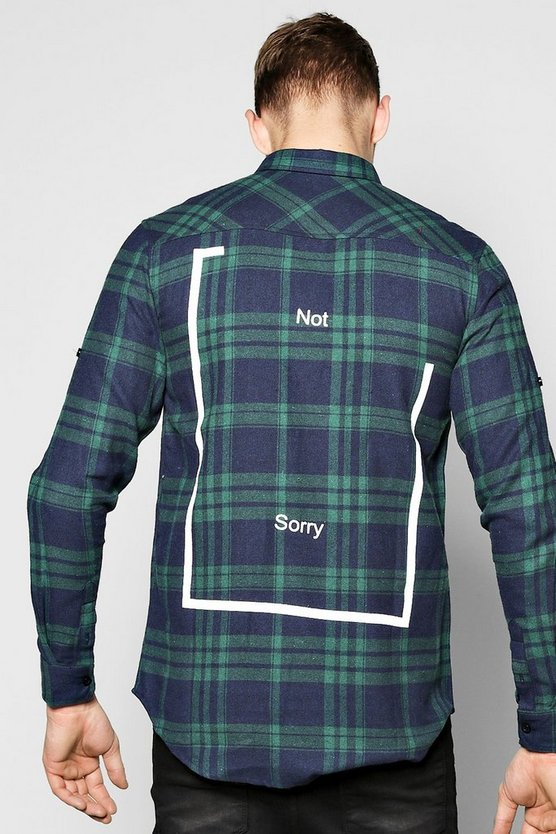 Not Sorry Back Print Shirt