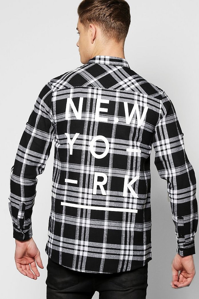 Buffalo Check Back Print Shirt