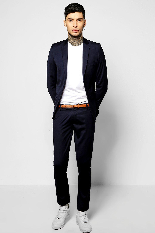 Skinny Fit Suit Jacket navy