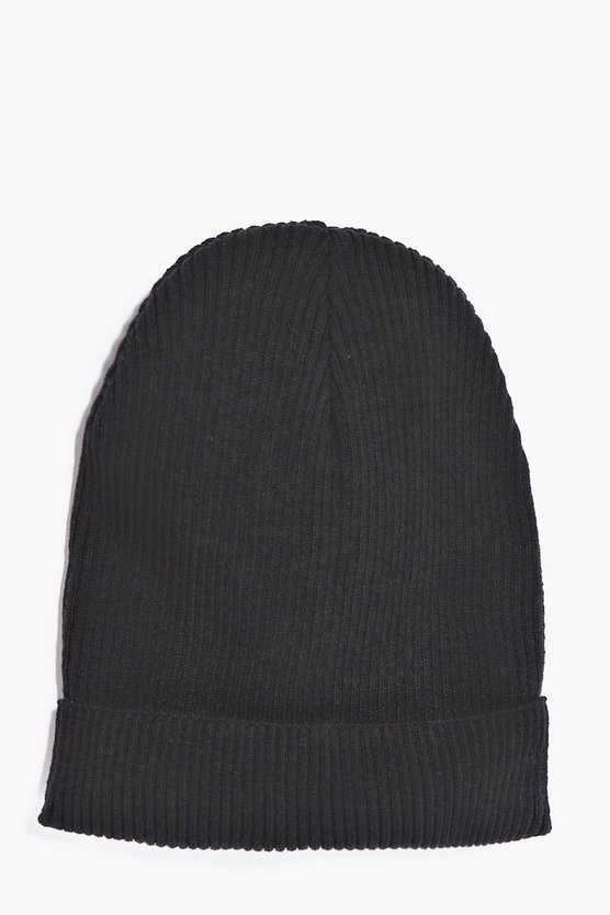 Light Weight Ribbed Slouch Beanie