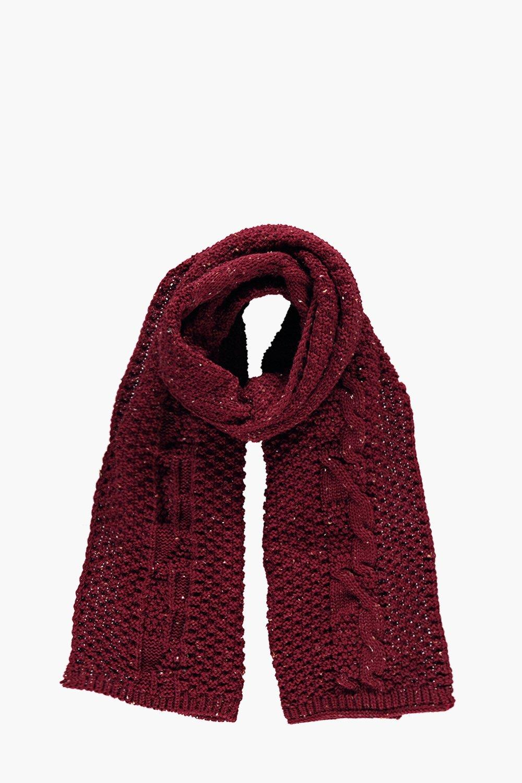 Knit Scarf  burgundy