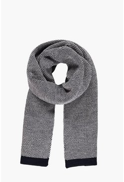 Texture Scarf with Tipping