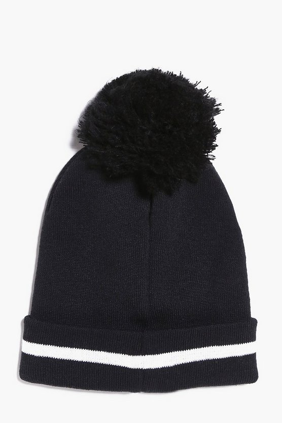 Stripe Bobble Hat