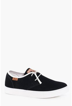 Suedette Lace Up Plimsoll