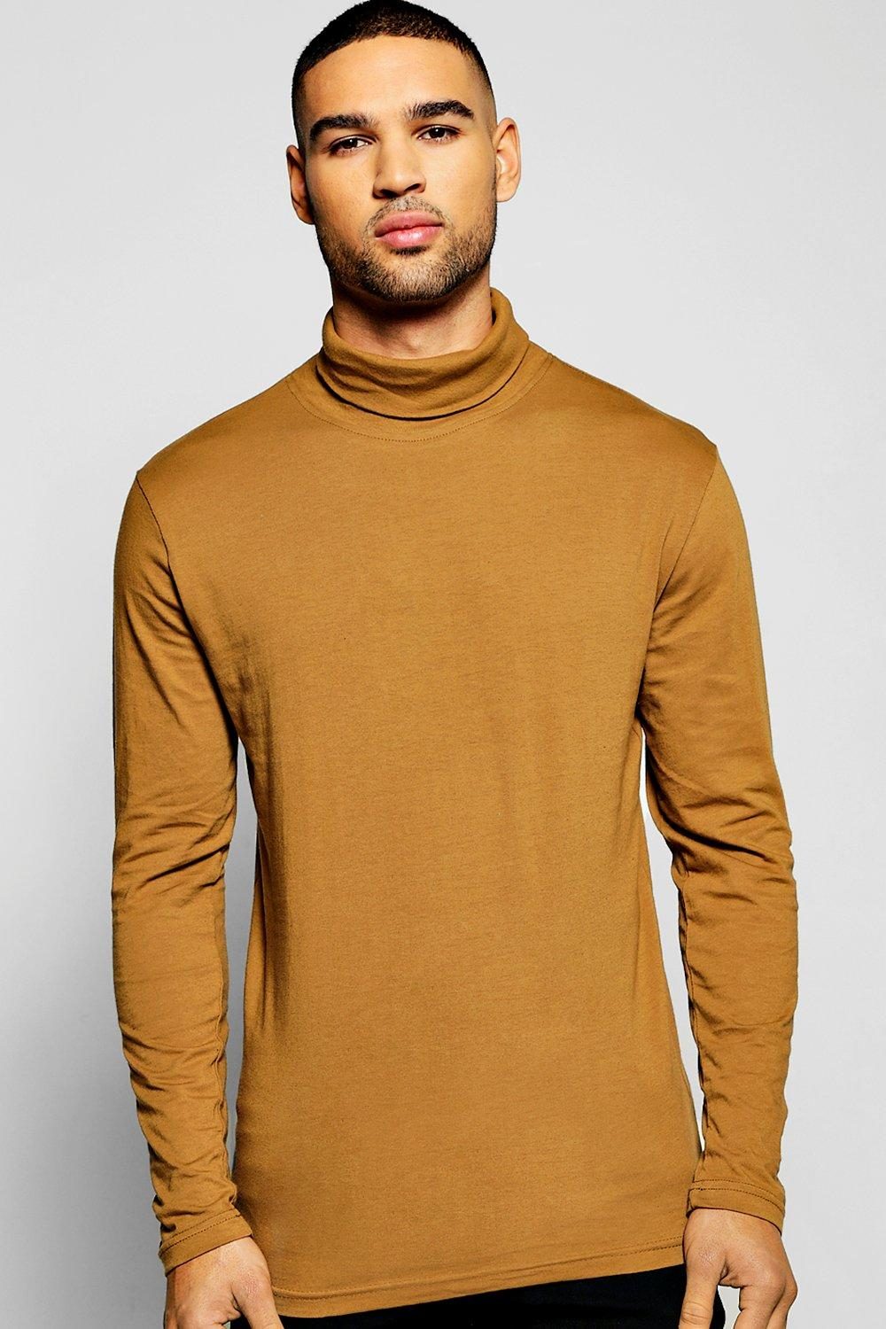 Long Sleeve Jersey Roll Neck Top