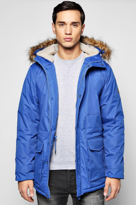 Faux Fur Hooded Parka Jacket | Boohoo