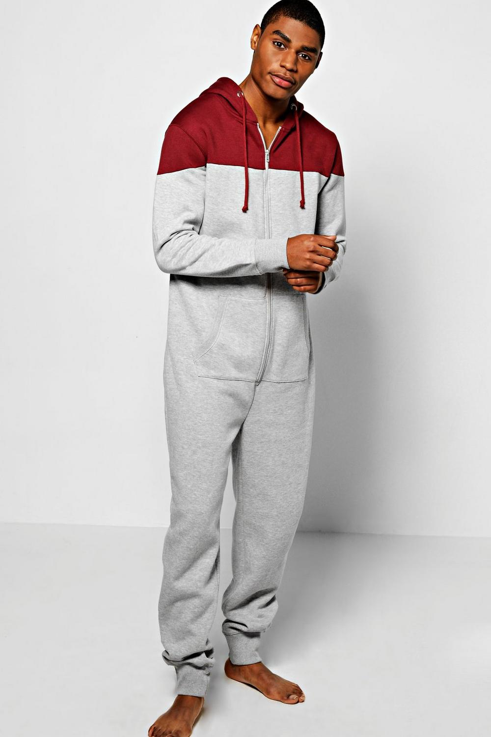 Contrast Hooded Onesie