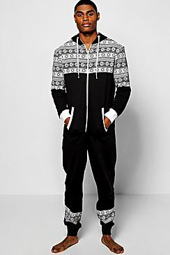 Snowflake Hooded Onesie