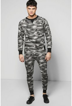 Skinny Fit Combat Sweat Tracksuit