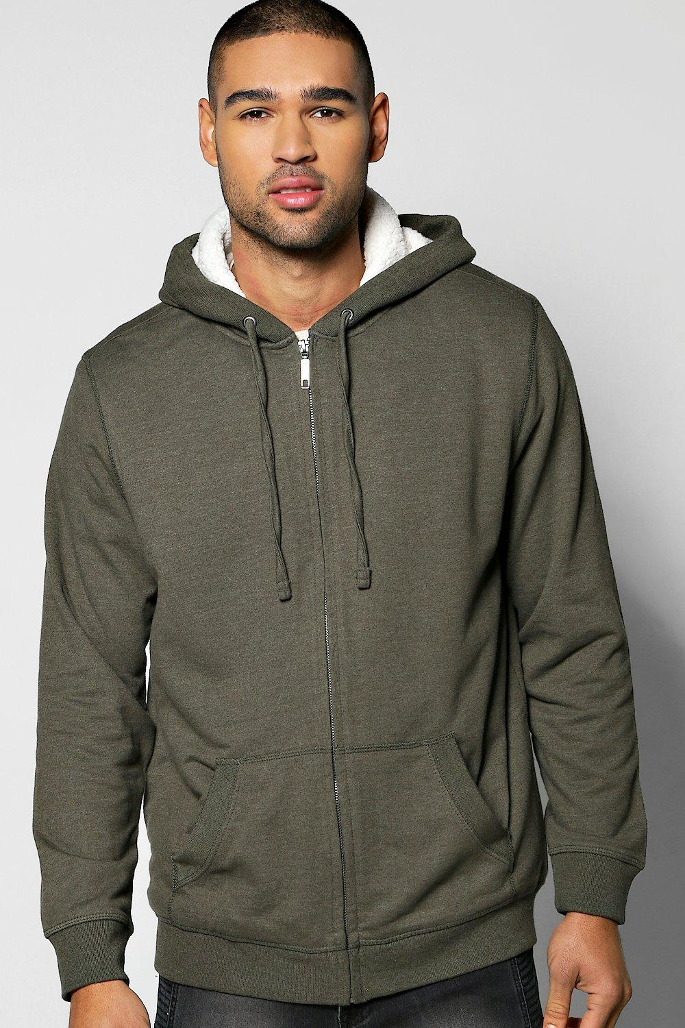 Borg Lined Hoodie