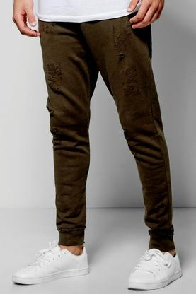 Skinny Fit Distressed Jogger