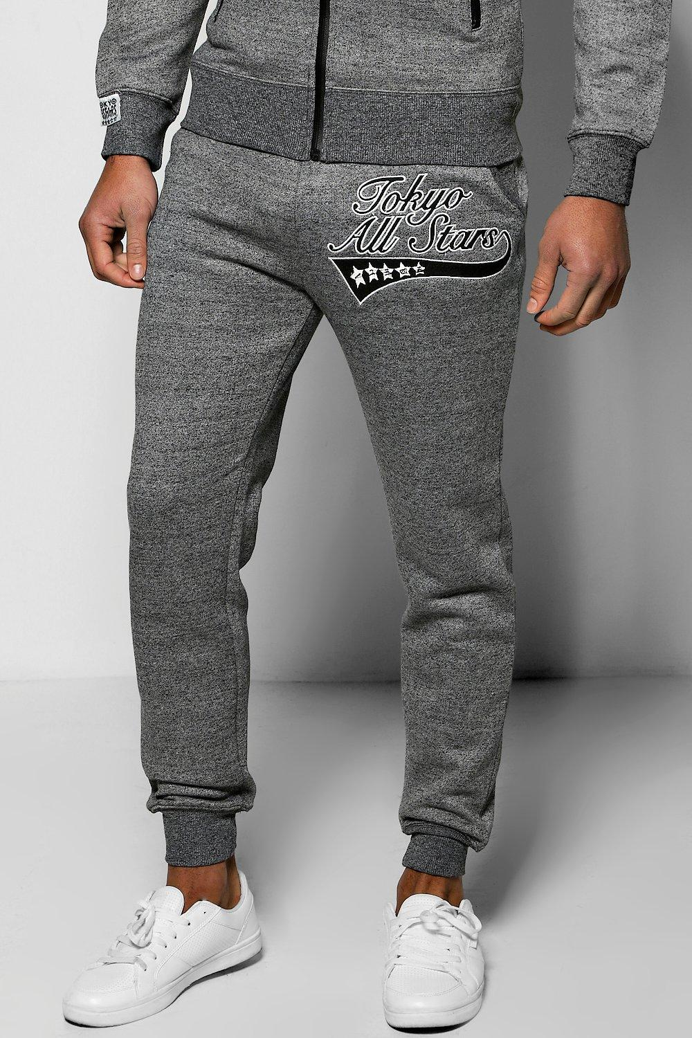 Image of All Stars Salt and Pepper Joggers - black
