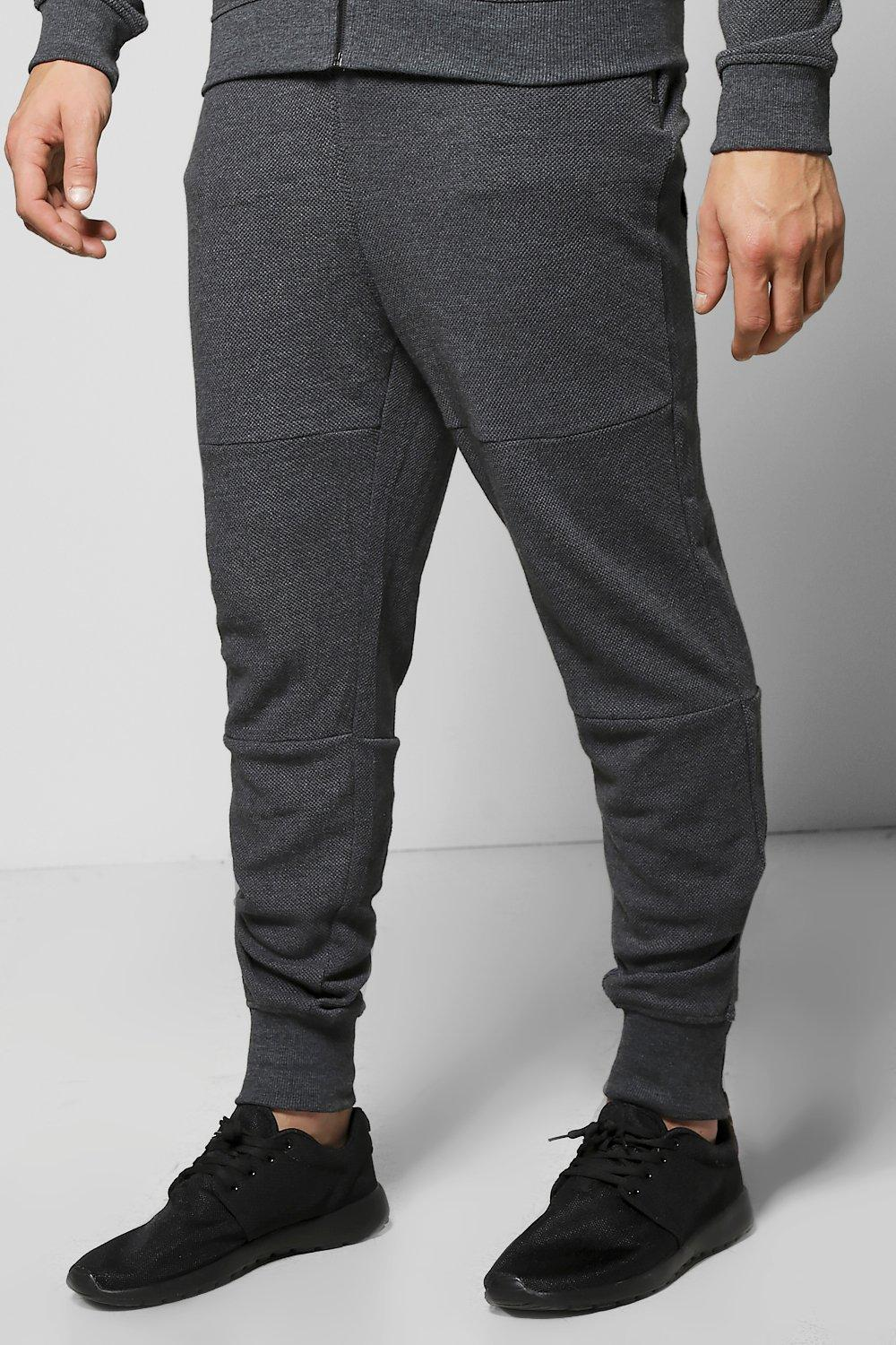 Fit Waffle Joggers with Zip Cuff - charcoal